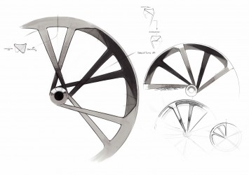 Audi e-bike Worthersee - Wheel Design Sketch