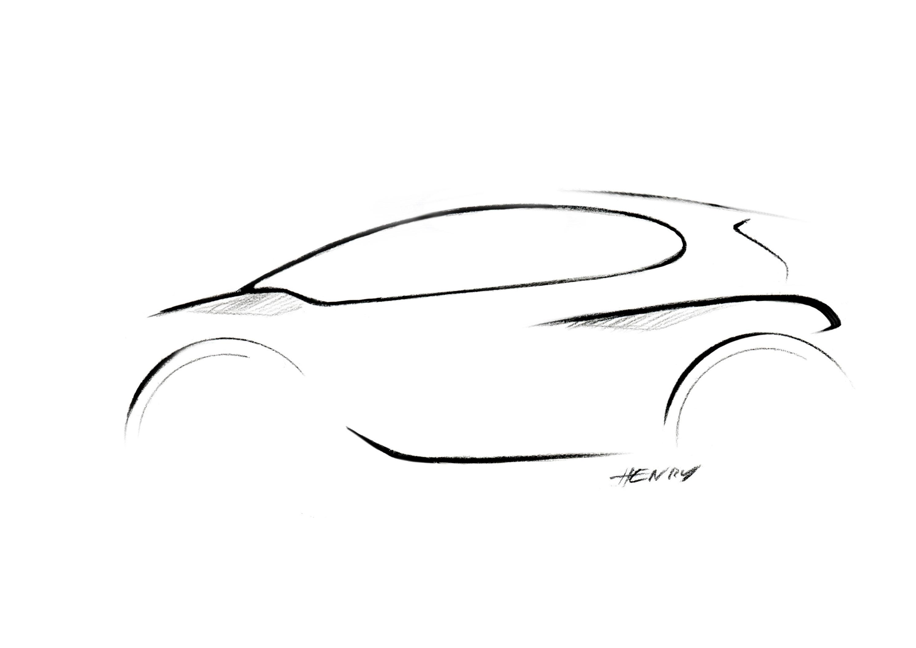 Peugeot 208 Design Sketch Car Body Design