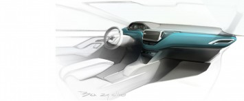 Peugeot 208 - Interior Design Sketch
