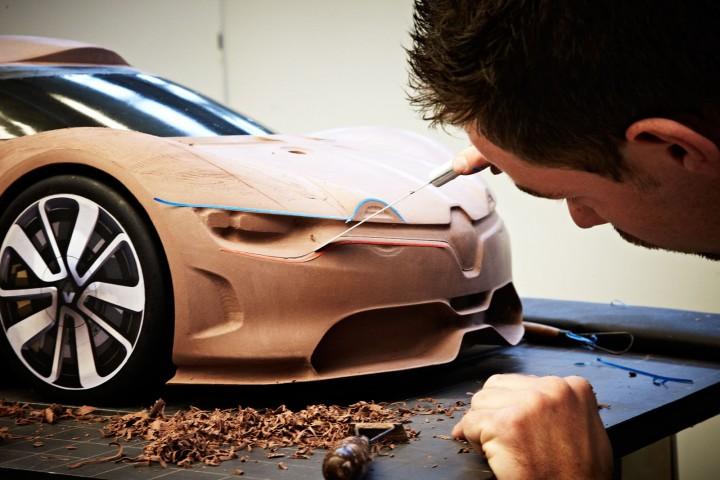 Renault Alpine A110 50 Concept Car Body Design