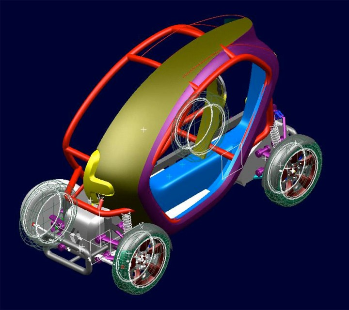 Exclusive renault twizy design story part 2 car body - Voiture autocad ...