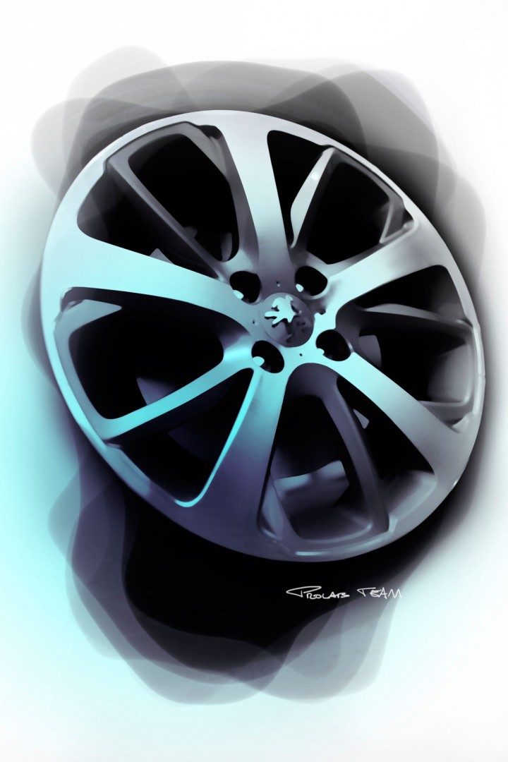 Wheel Design Sketch