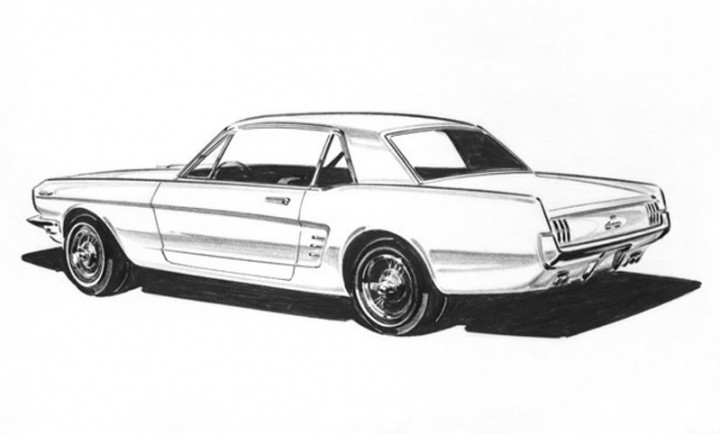 Ford Documentary Styling And The Experimental Car 1964on 1967 Ford Mustang Gt 500 Side View