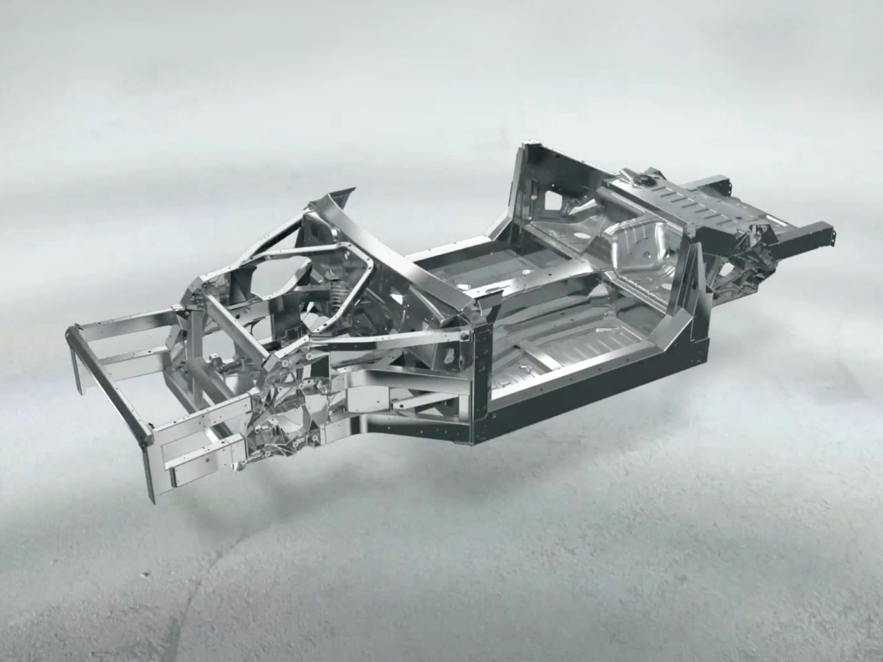 Ferrari California Aluminum Spaceframe Car Body Design