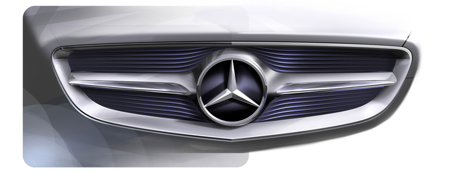 Mercedes benz f 800 style radiator grille design sketch for Mercedes benz f
