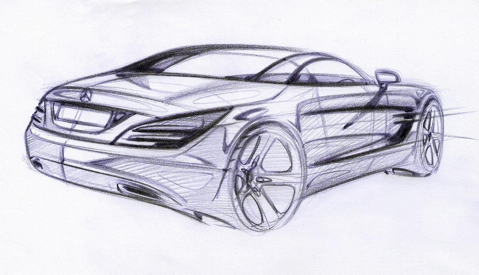 Mercedes benz sl class design sketch car body design for Mercedes benz design