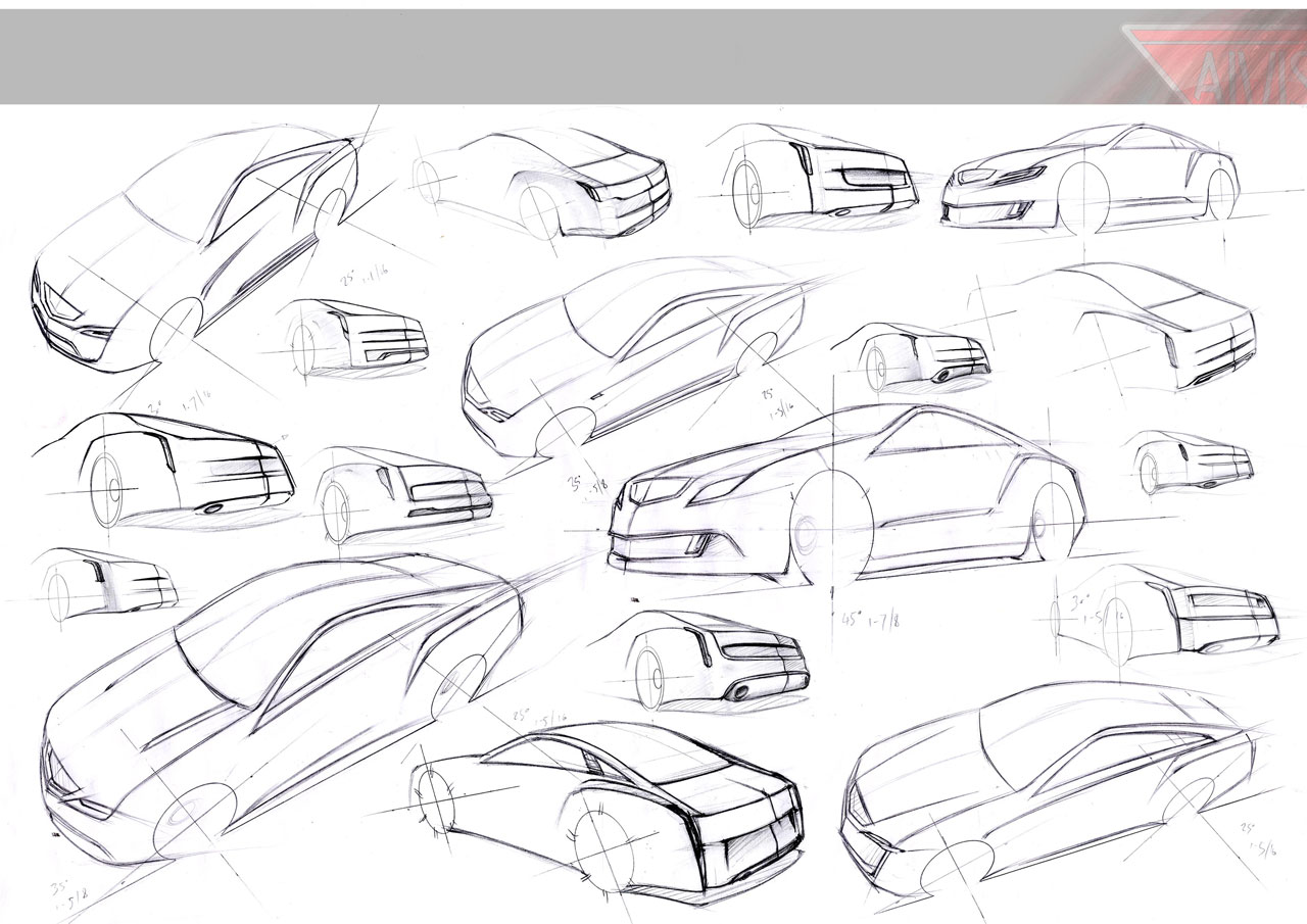 Concept car sketches drawings sketch coloring page for Coupe architecture