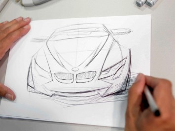 BMW designer sketching a car