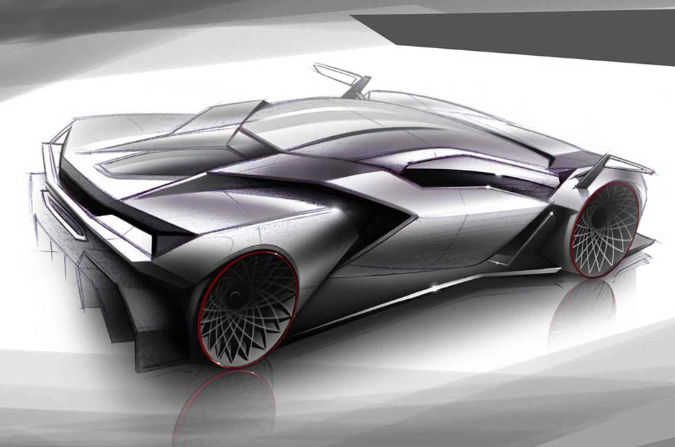 Lamborghini Car Design Sketch Eyeviewnet Com