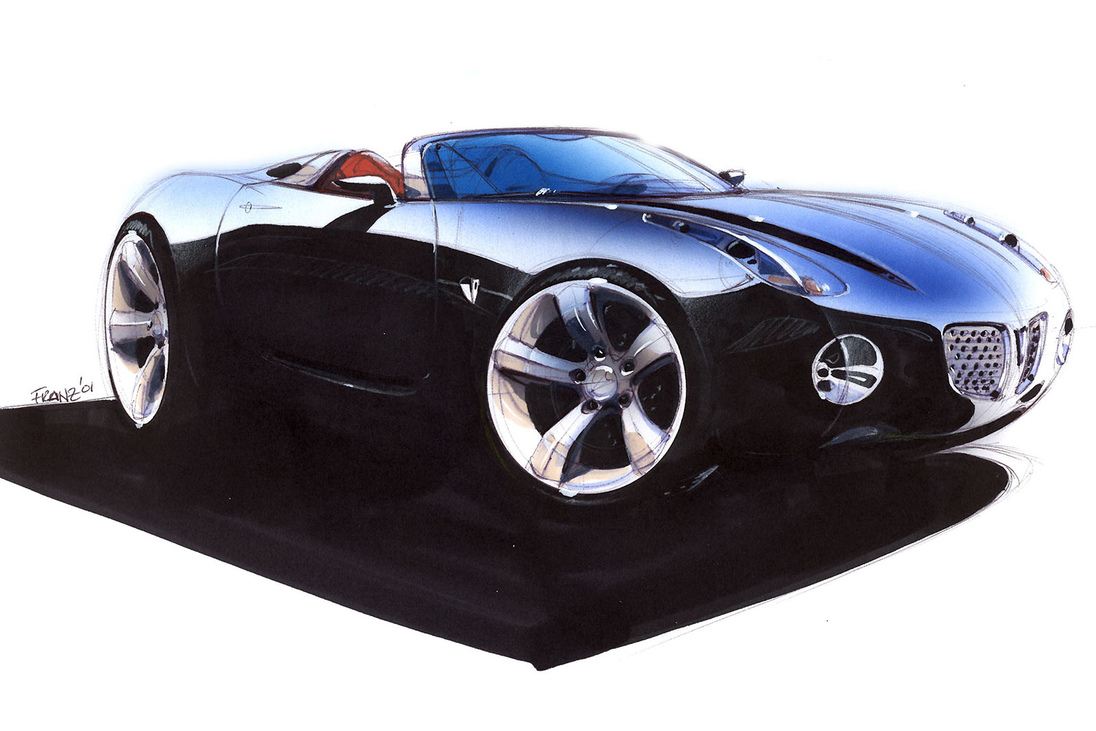 Pontiac Solstice Concept Design Sketch on Volvo S60 Sketch