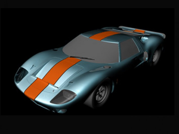 Making of: Ford GT40 realistic 3D model