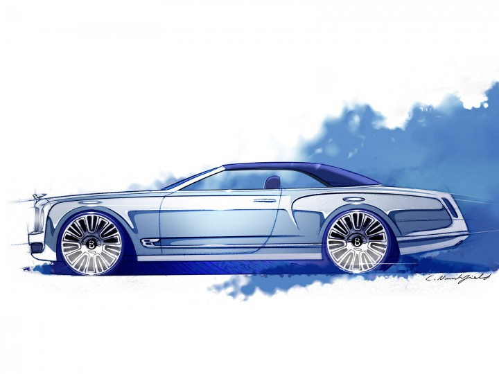 Bentley Mulsanne Convertible Concept: design sketches