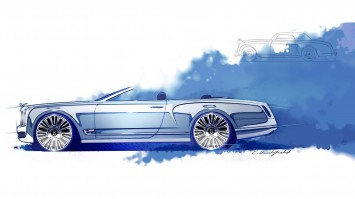Bentley Mulsanne Convertible Concept - Design Sketch