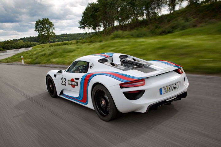 porsche 918 spyder gets martini racing livery car body. Black Bedroom Furniture Sets. Home Design Ideas