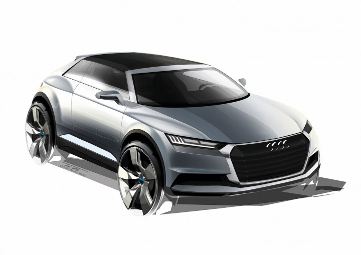 audi crosslane coup233 concept design sketches car body