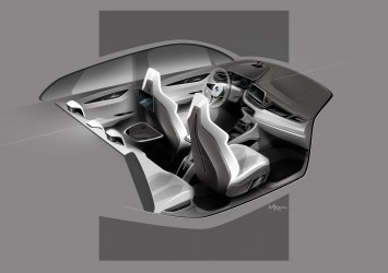 BMW Concept Active Tourer - Interior Design Sketch by Max Rathmann