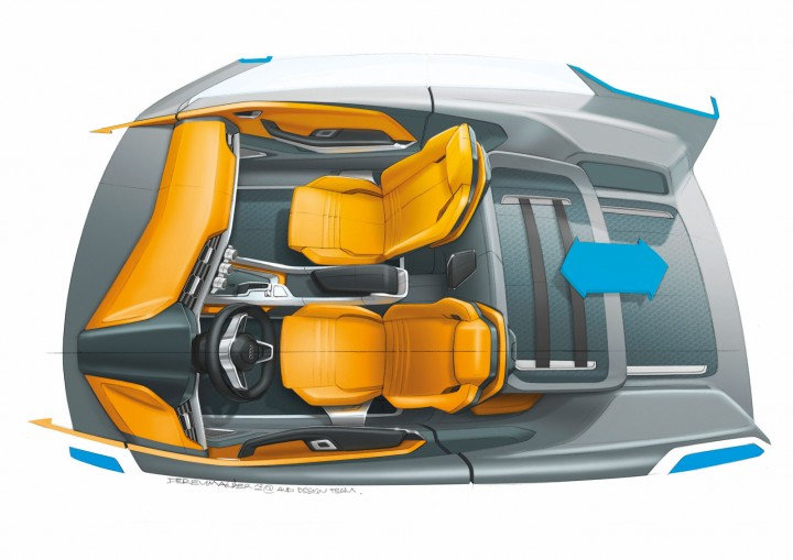 Audi Crosslane Coup Concept Design Sketches Car Body Design
