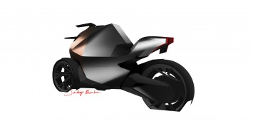 Peugeot Onyx Concept Scooter Design Sketch