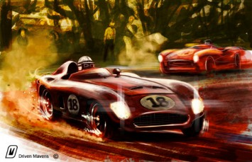 Classic Race Car Painting by Arvind Ramkrishna