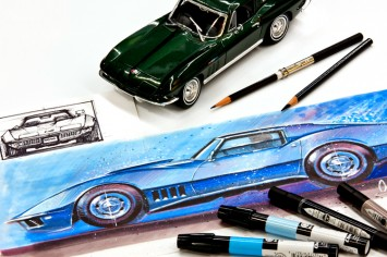 How to Draw Cars Now - Marker Rendering Corvette small