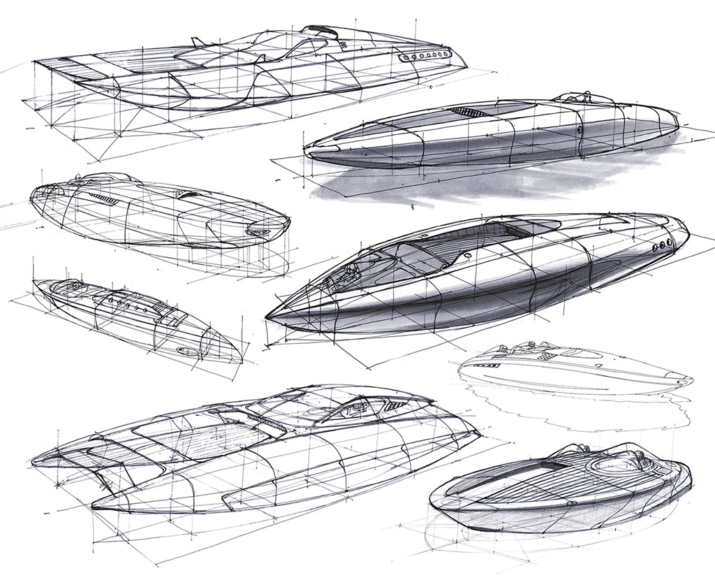 Art Line Yacht Design : Perspective design sketches by scott robertson car body
