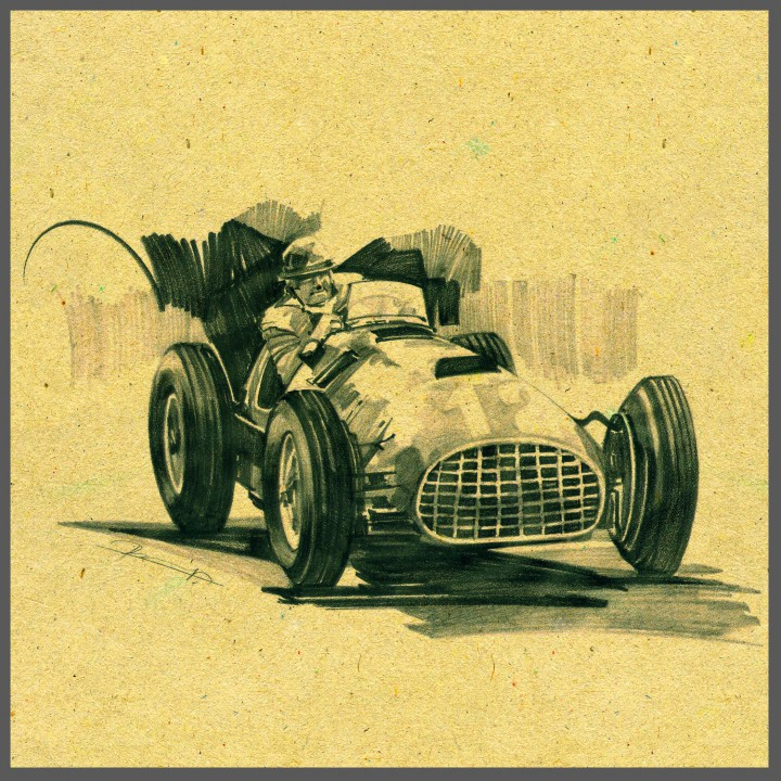 Prashant Ladkat - Racing Car Sketch