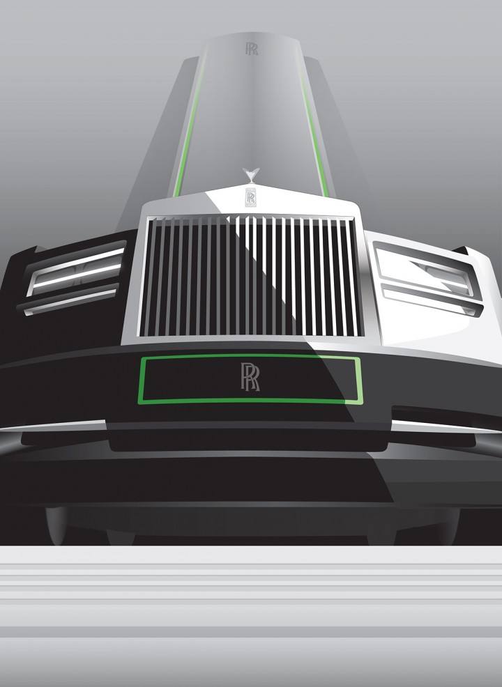 rolls royce previews deco inspired cars with posters car design
