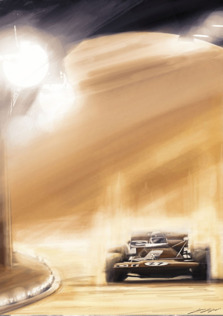 Simon Jody Lazzari - Racing Car digital painting