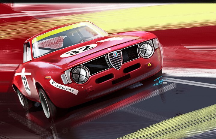 Tejas Purohit - Alfa Romeo Jr illustration