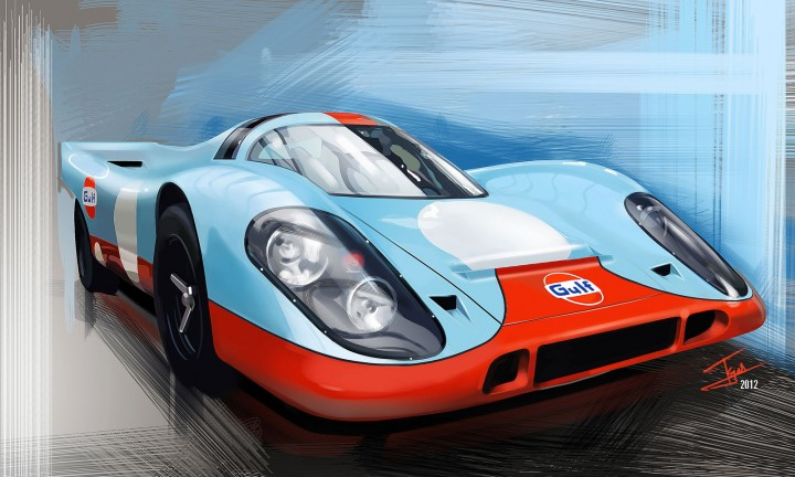 Tejas Purohit - Porsche 917 illustration