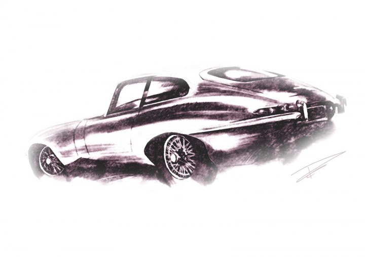 Tom Grove - Jaguar E Type sketch