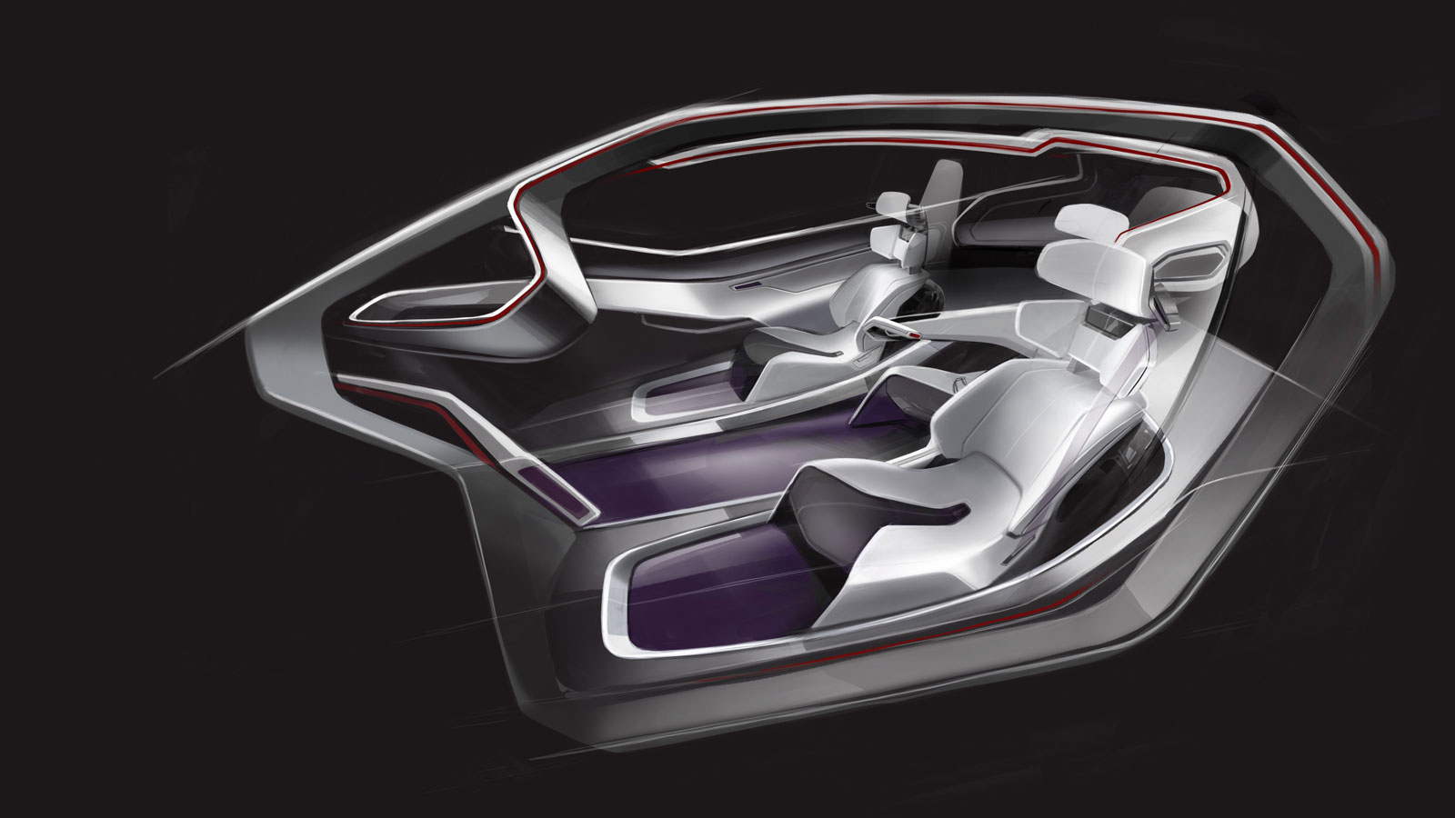 volkswagen trimaran concept interior car body design. Black Bedroom Furniture Sets. Home Design Ideas