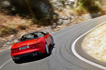 Jaguar F-Type on the road