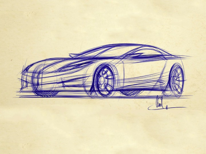 How to Draw Cars: 3/4 View Dynamic Sketch - Car Body Design