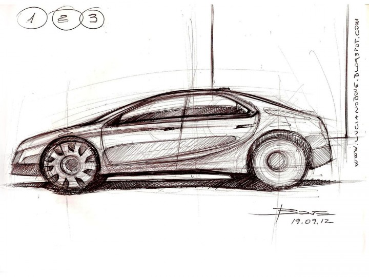 Car Side View Sketch Tutorial