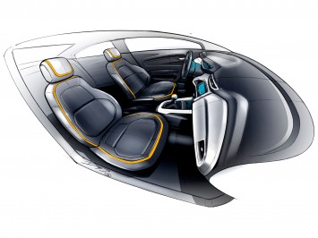 Chevrolet Onix Interior Design Sketch