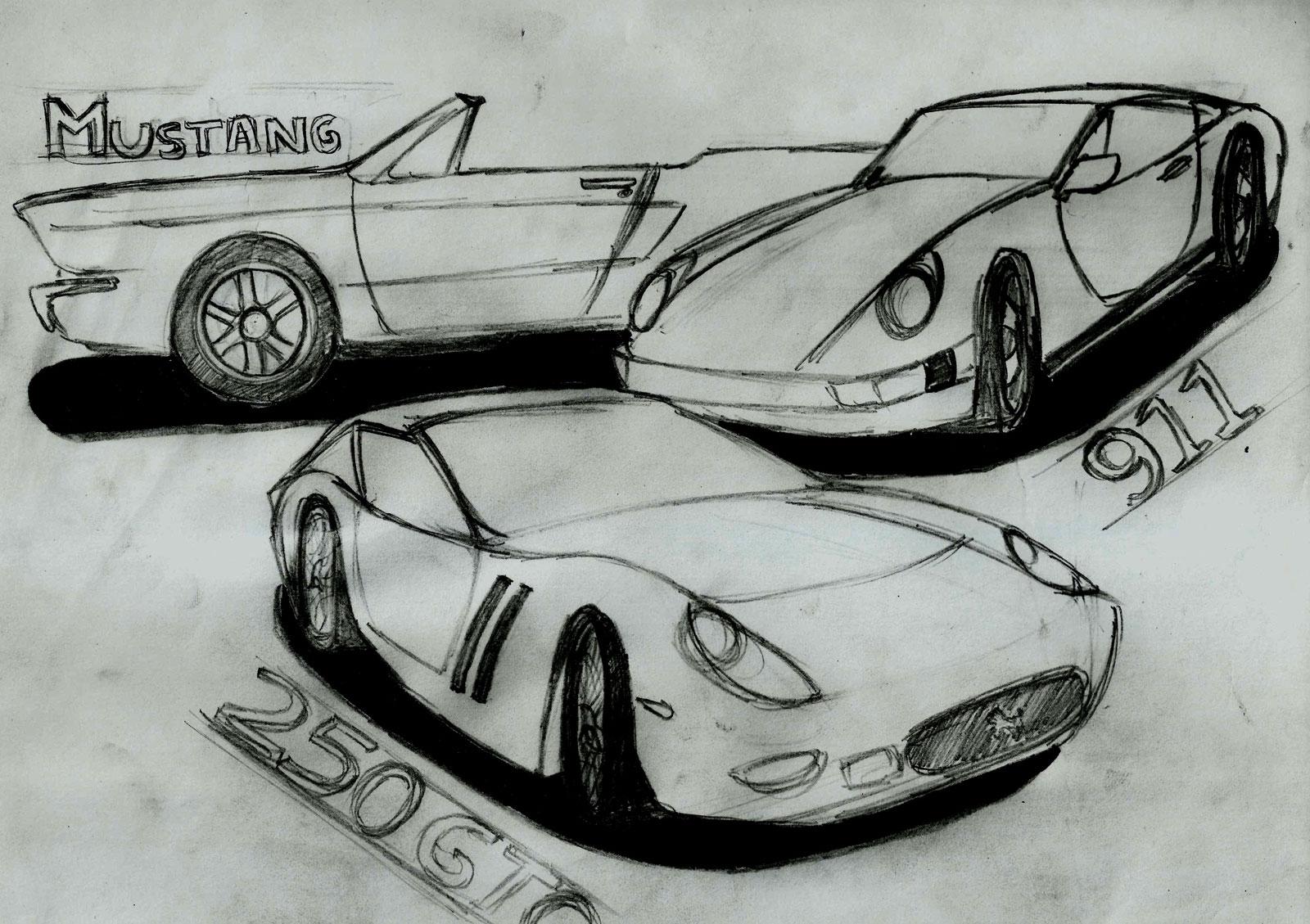 Nirmal Heath - Car Sketches - Car Body Design