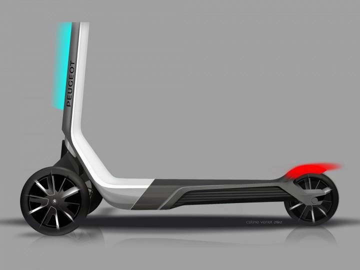 peugeot trottinette concept car body design. Black Bedroom Furniture Sets. Home Design Ideas