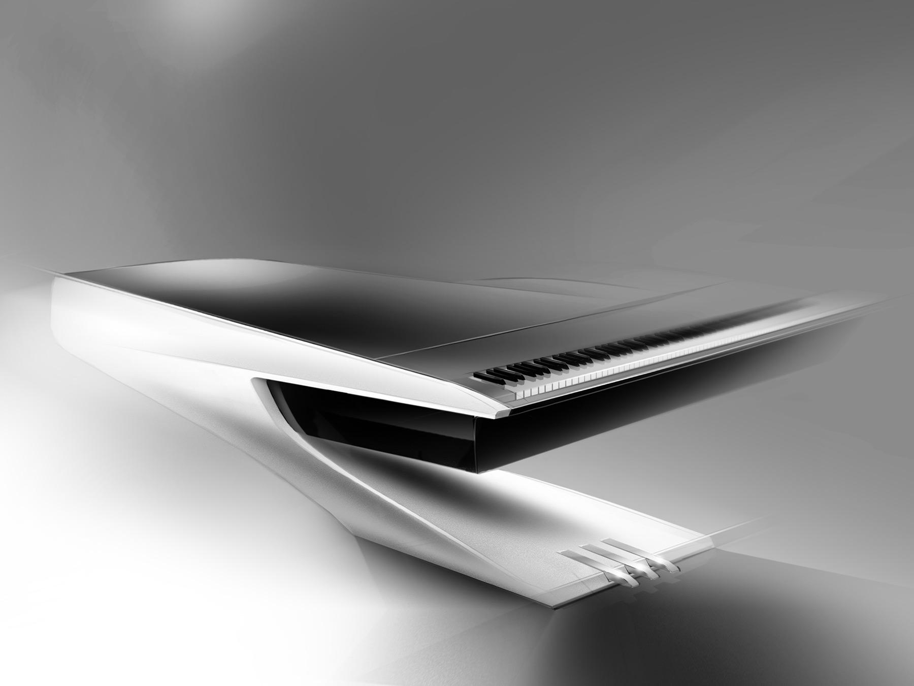 Pleyel piano concept design sketch car body for Yamaha rx v473 manual