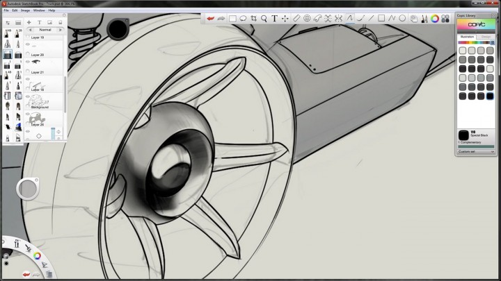 Autodesk SketchBook Pro 2012 screenshot