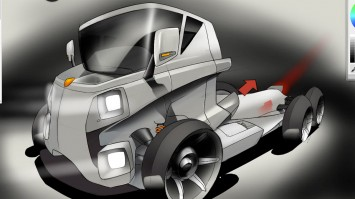 Truck Design Sketch in SketchBook Pro 6