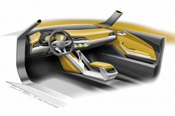 Audi Crosslane Coupe Concept Interior Design Sketch