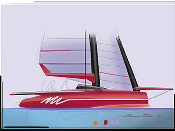 Sailing Boat Speed Sketch in Sketchbook Pro