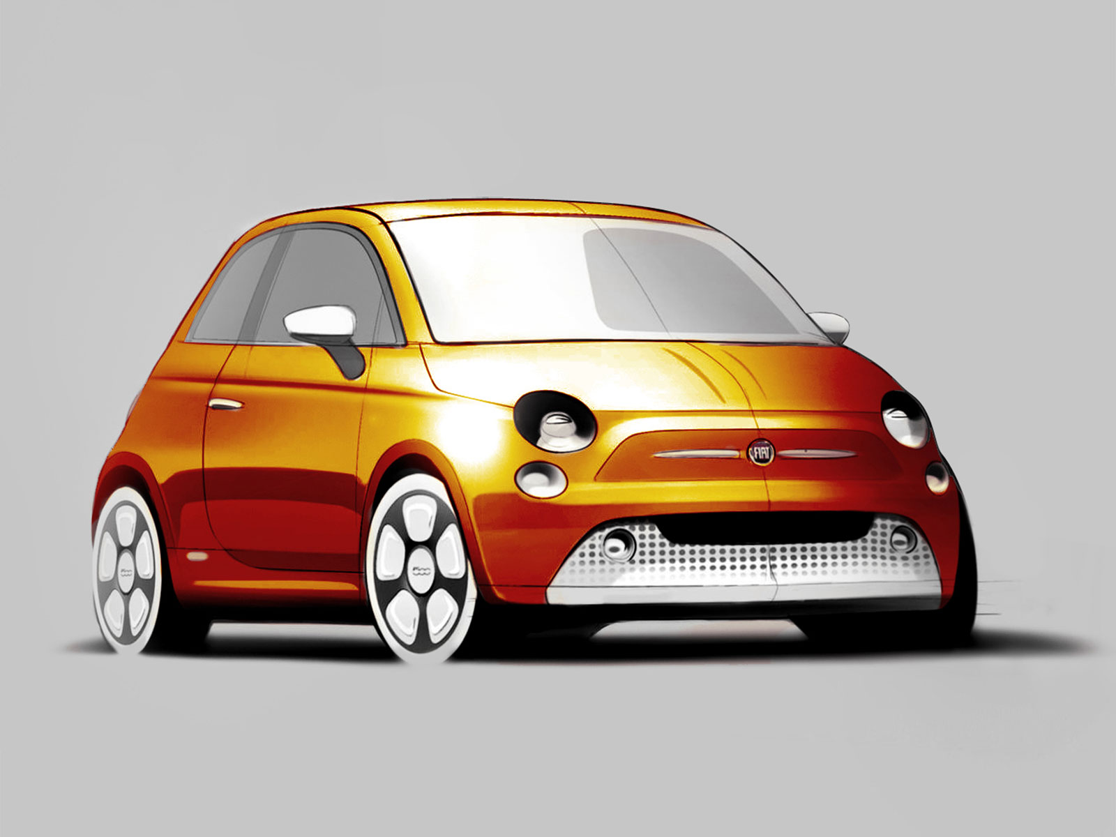 fiat 500e design sketch car body design. Black Bedroom Furniture Sets. Home Design Ideas