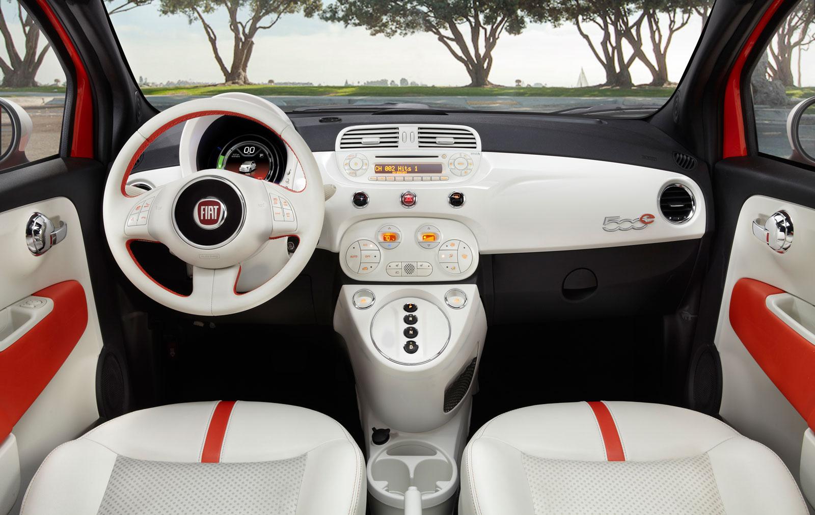 fiat 500e interior car body design