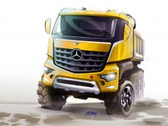 Mercedes-Benz previews Arocs construction truck