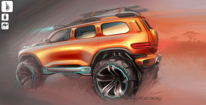 Mercedes-Benz Ener-G-Force Concept Design Sketch