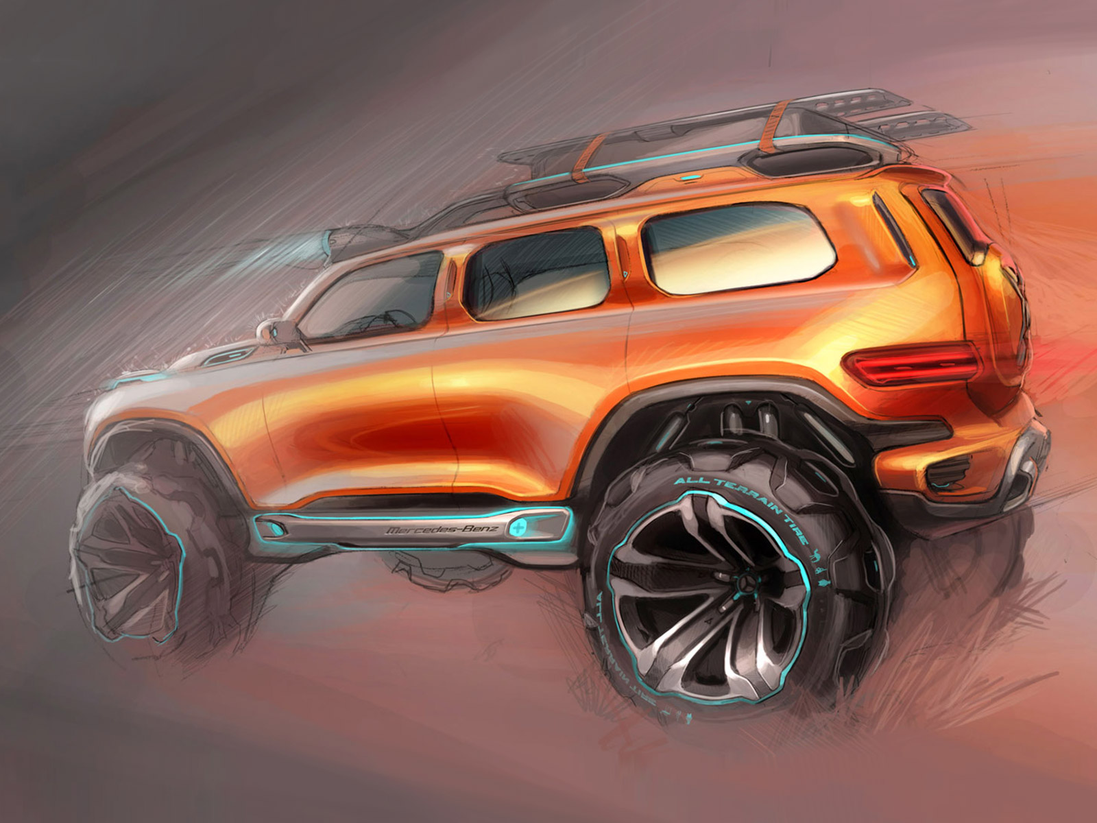 Mercedes benz ener g force concept design sketch car for Mercedes benz auto body
