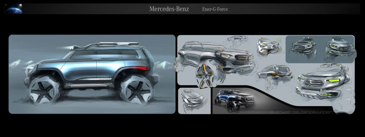 Mercedes-Benz Ener-G-Force design study sketch