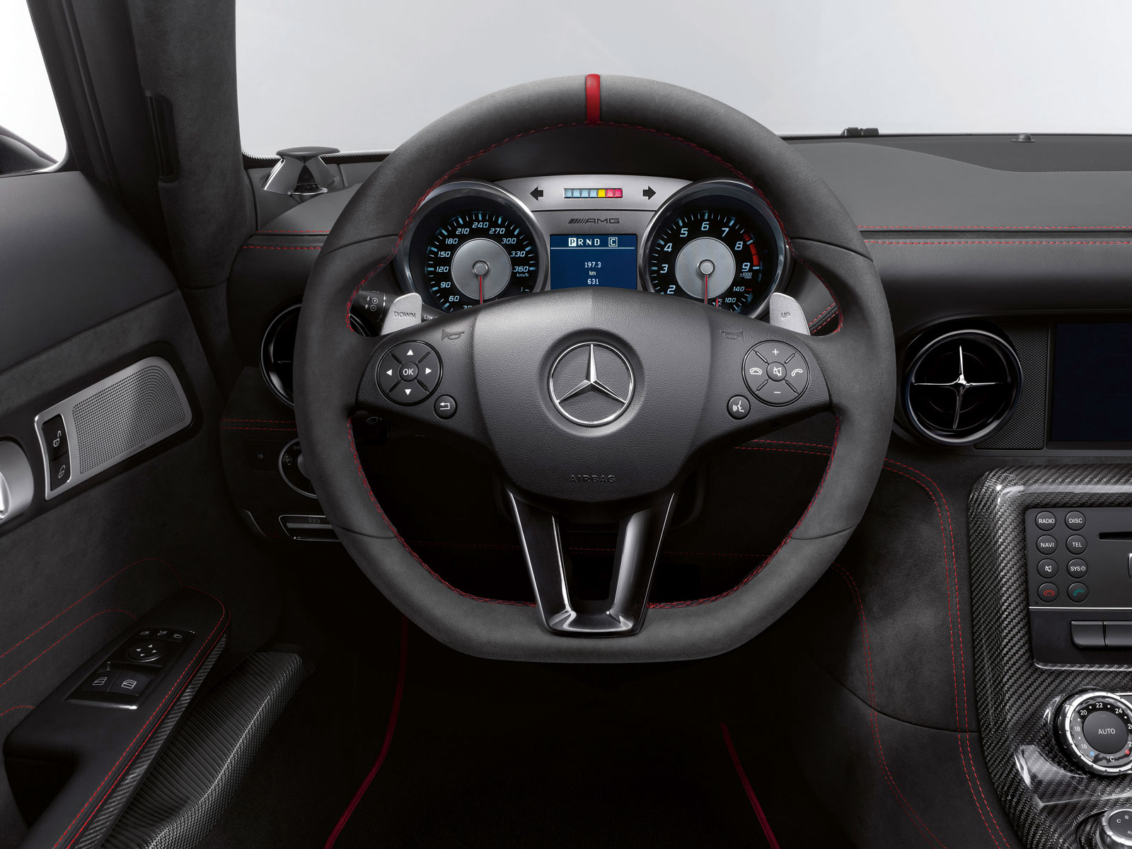 Mercedes-Benz SLS AMG Black Series Interior Steering Wheel - Car ...